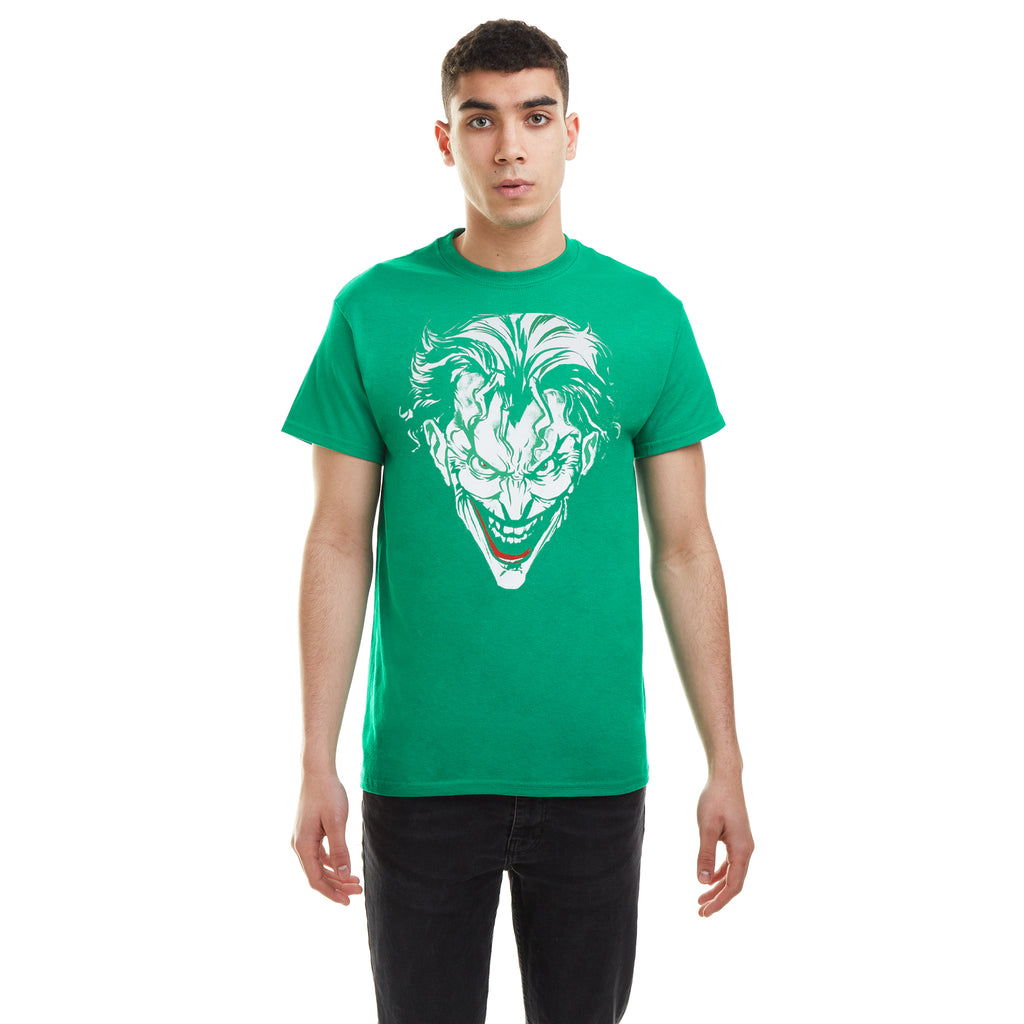 DC Comics Mens - Joker Red - T-shirt - Irish Green