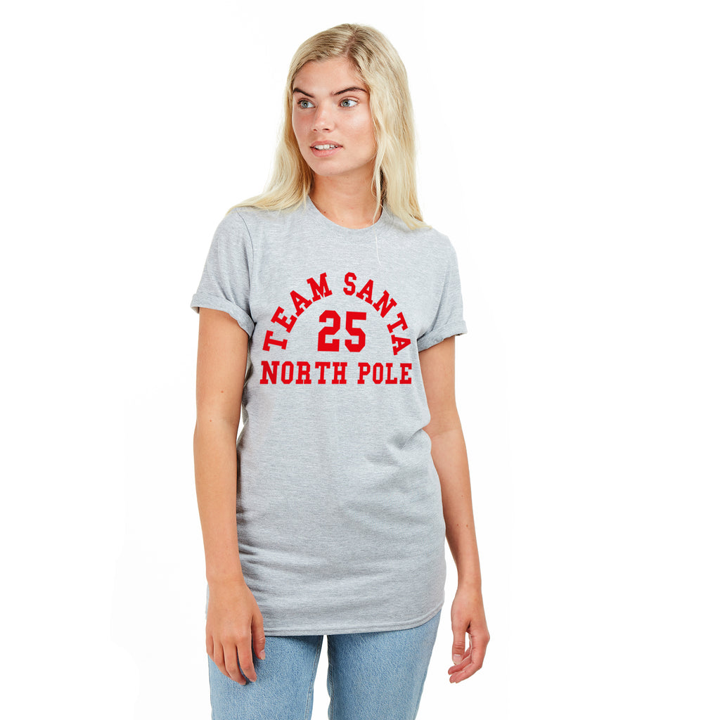 Game On Ladies - Team Santa - T-shirt - Grey - CLEARANCE
