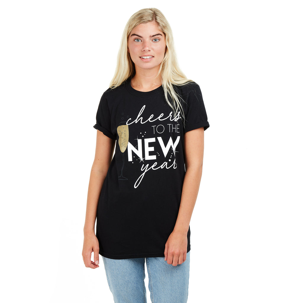 Game On Ladies - Cheers to the New Year - T-shirt - Black