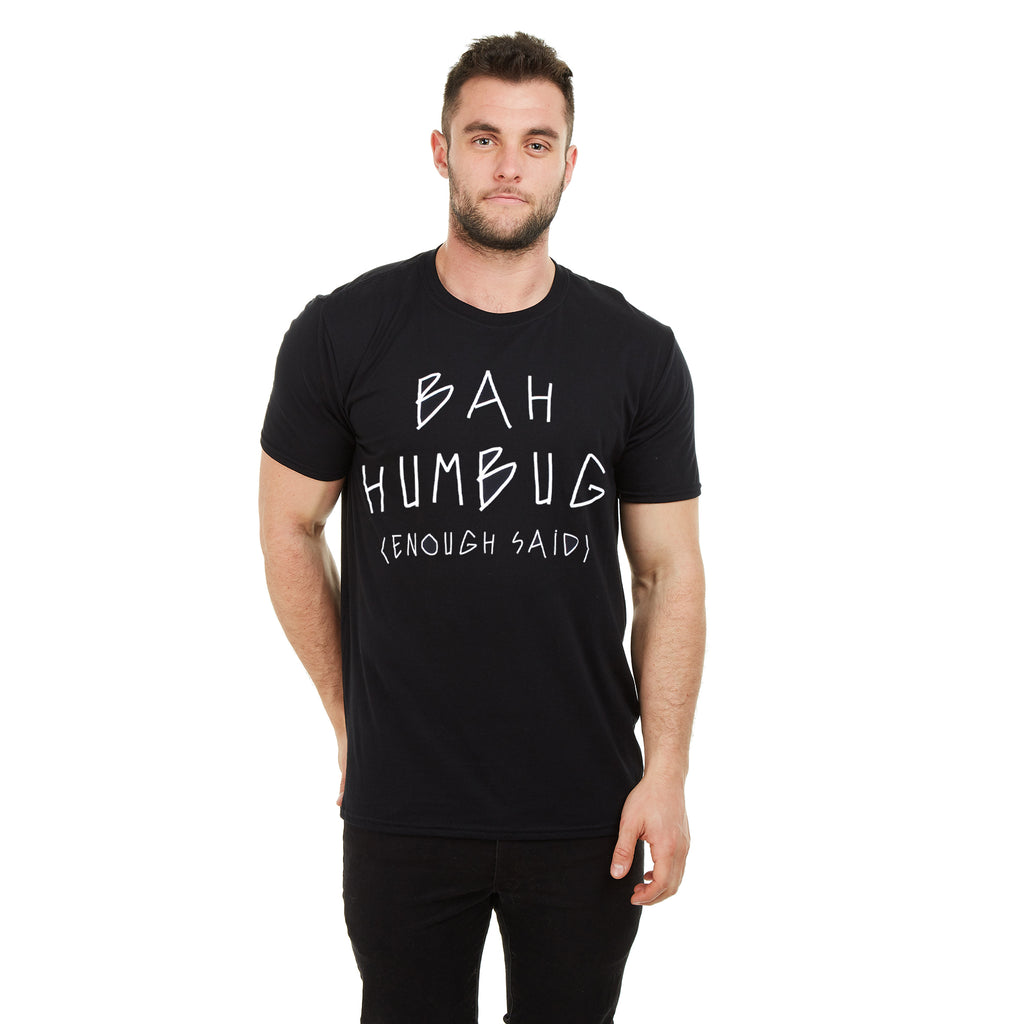 Game On Mens - Bah Humbug - T-shirt - Black - CLEARANCE