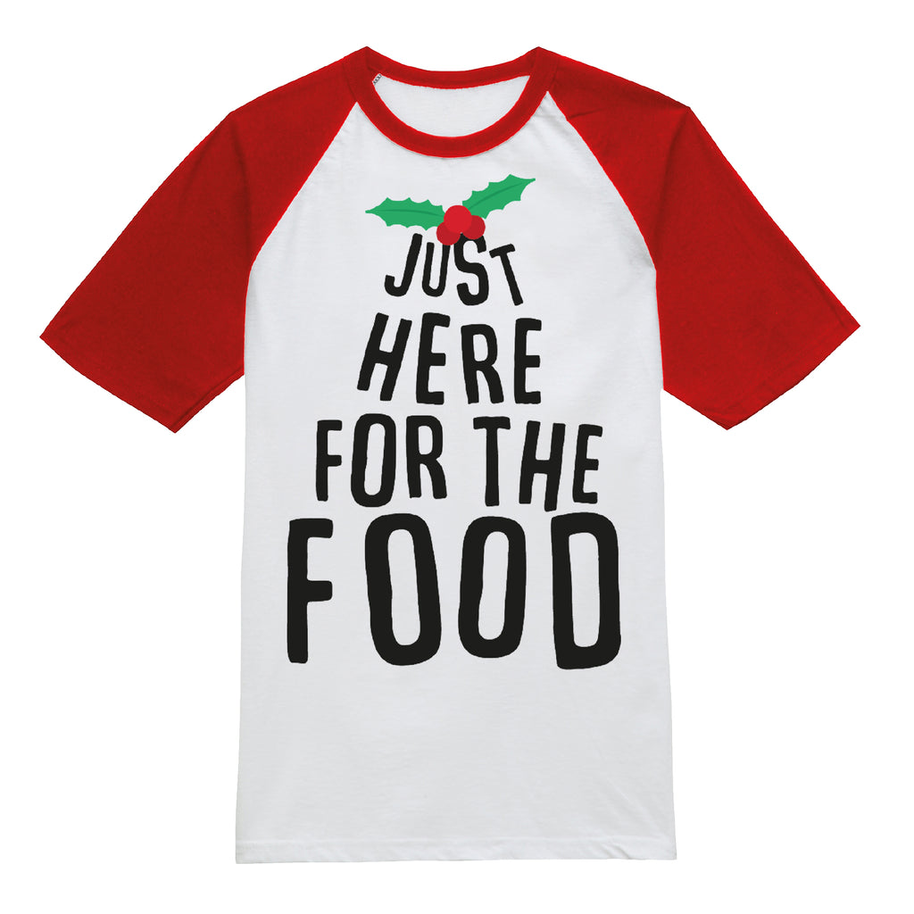 Game On Mens - Just Here For The Food - T-shirt - White/Red