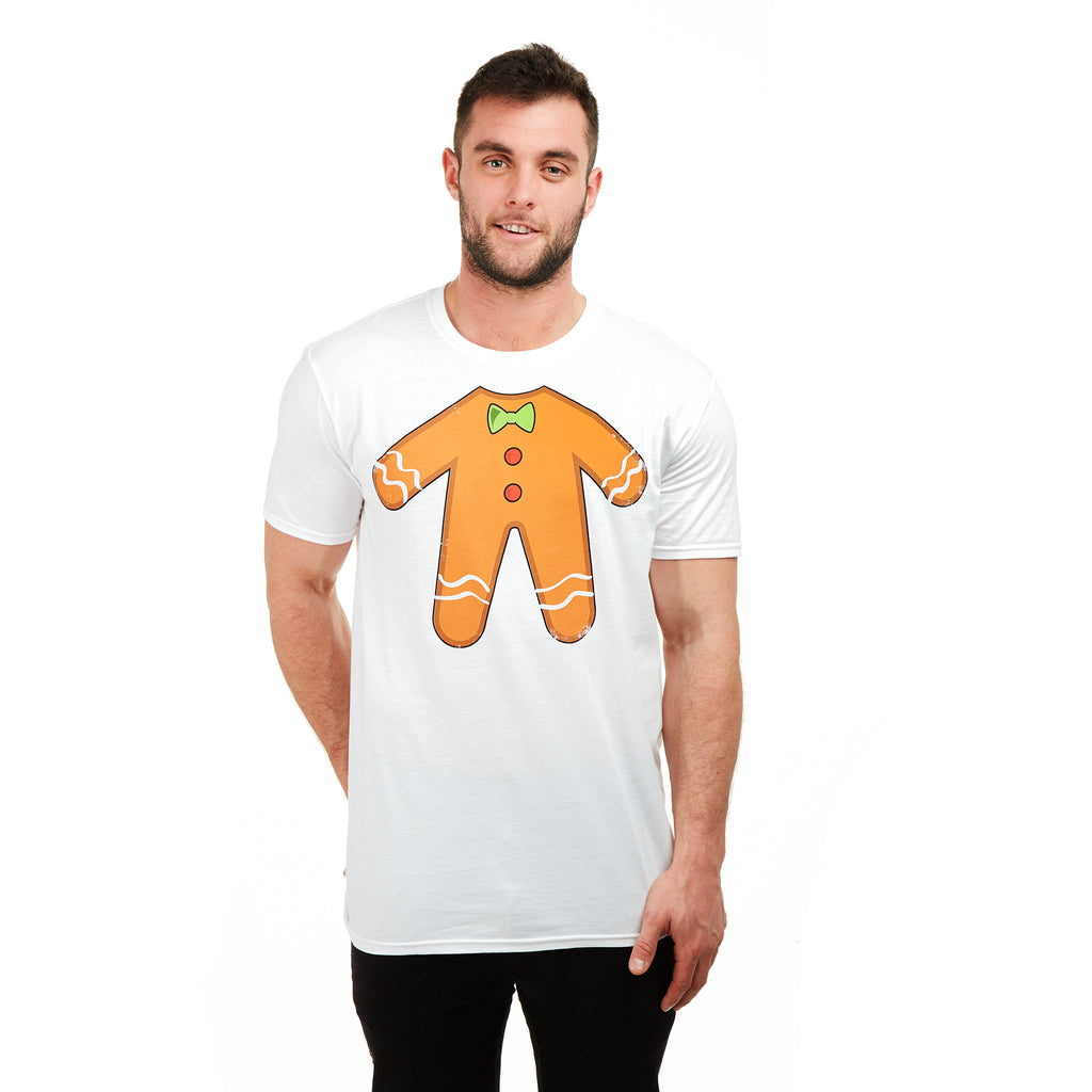 Game On Mens - Gingerbread Man - T-shirt - White