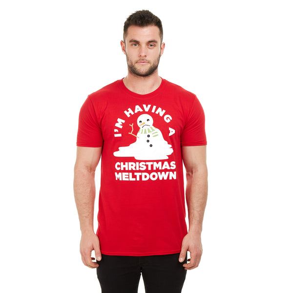 Game On Mens - Meltdown - T-shirt - Red