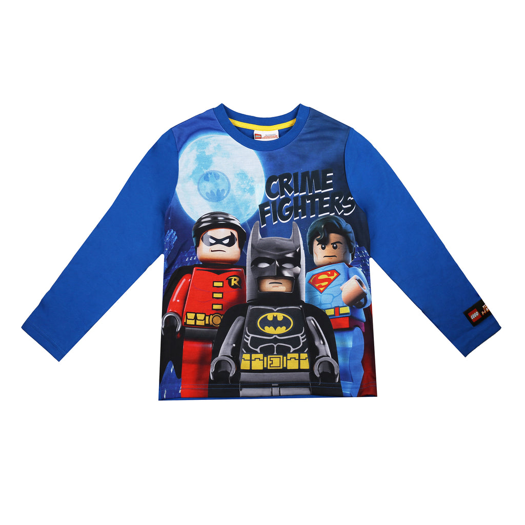 Lego Boys - Crime Fighters - Long Sleeve T-Shirt - Blue - CLEARANCE