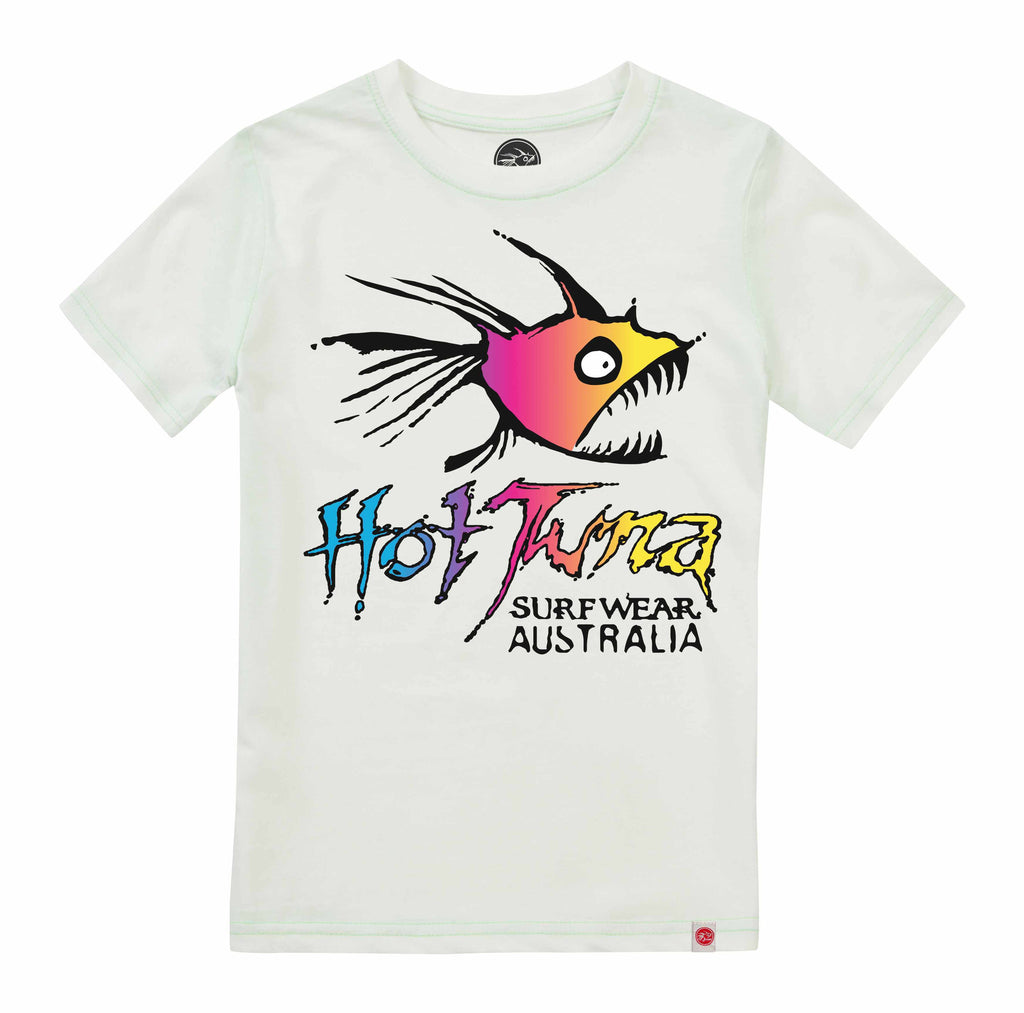 Hot Tuna Kids - Rainbow - T-Shirt - White - CLEARANCE