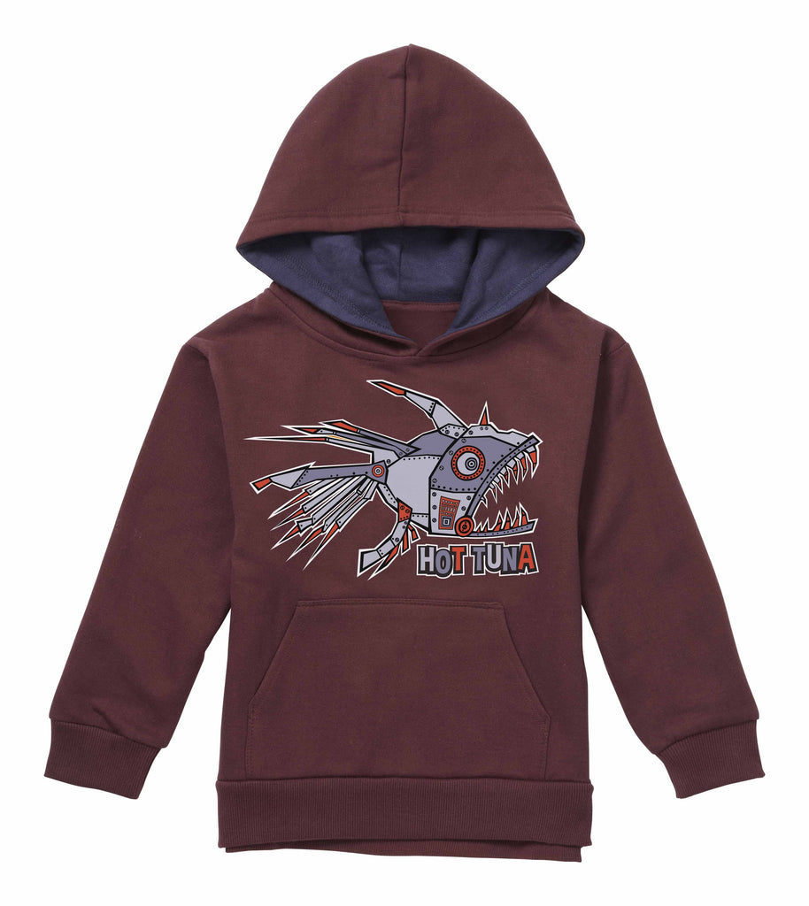 Hot Tuna Kids - Cyber Fish - Hoodie - Burgundy