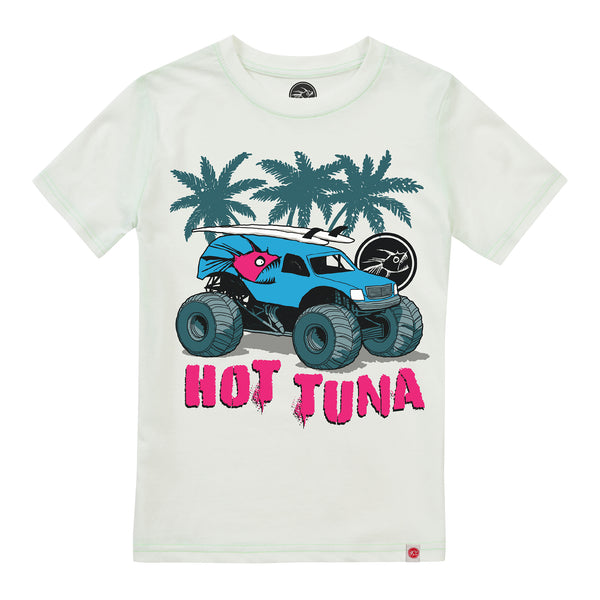Hot Tuna Kids - Monster Surf - T-shirt - White - CLEARANCE