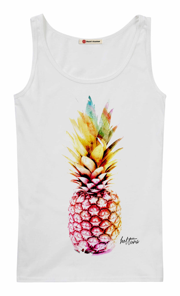 Hot Tuna Ladies - Pineapple - Vest - White
