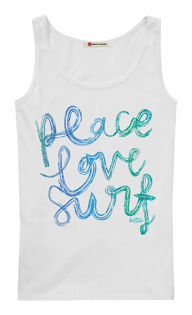 Hot Tuna Ladies -Peace Love Surf -Vest - White