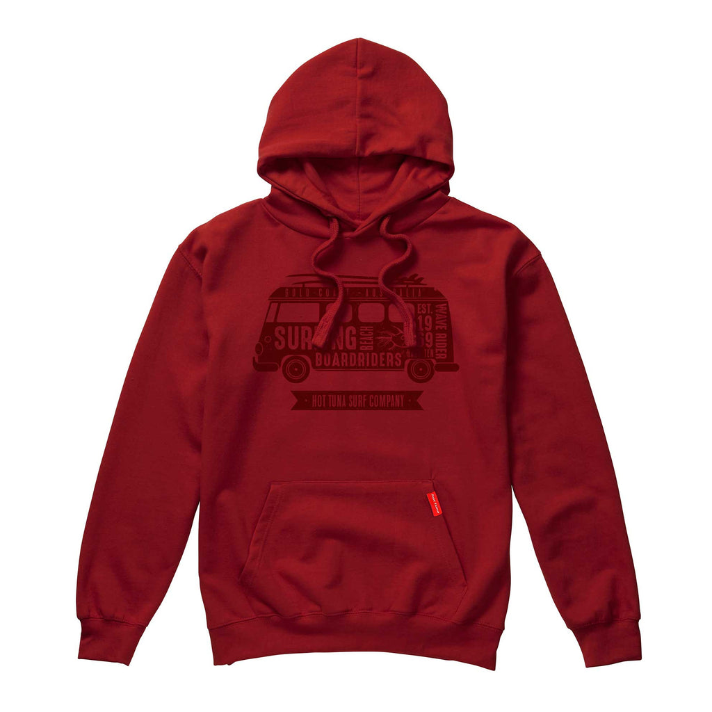 Hot Tuna Mens Camper Text Pullover Hoodie - Pepper Red