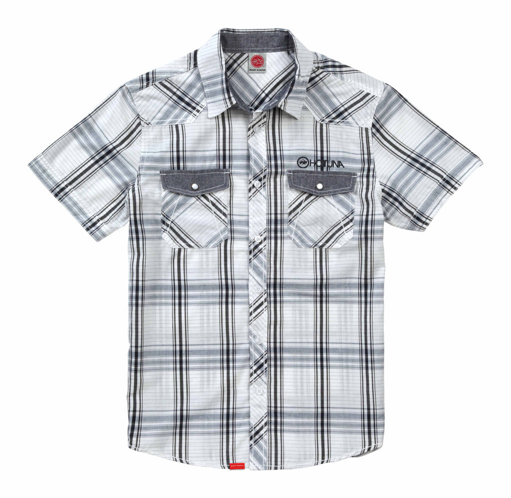 Hot Tuna Mens - Connection - Shirt - White Check - CLEARANCE