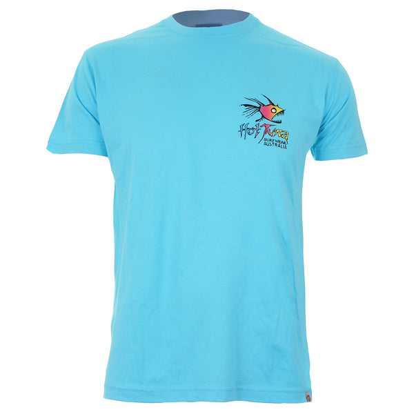 Hot Tuna Mens - Rainbow - T-Shirt - Atoll Blue
