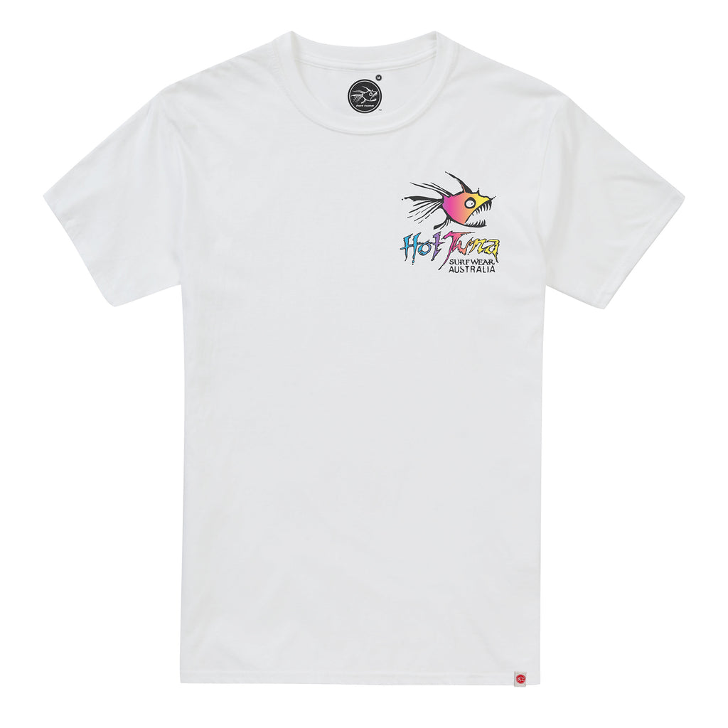 Hot Tuna Mens - Rainbow - T-Shirt - White