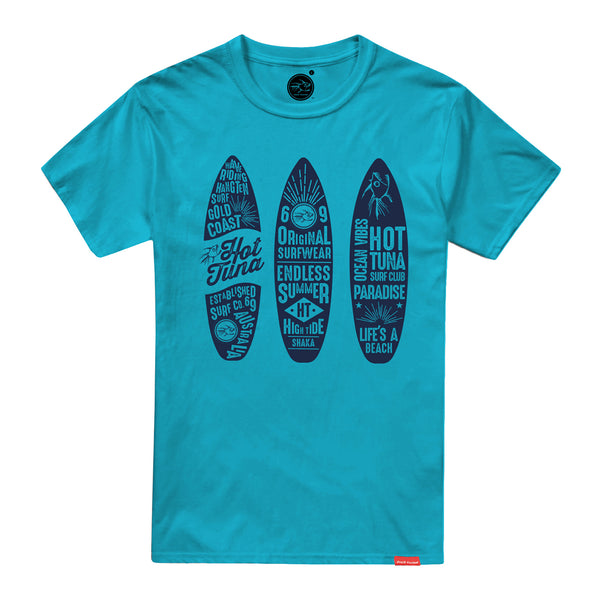 Hot Tuna Mens - Trio Surfboards - T-Shirt - Atoll Blue