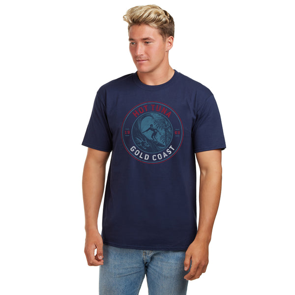Hot Tuna Mens - Gold Coast Emblem - T-Shirt - Navy