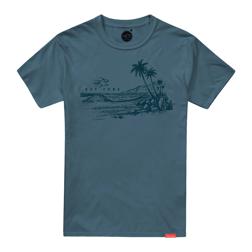 Hot Tuna Mens - Coast - T-Shirt - Denim