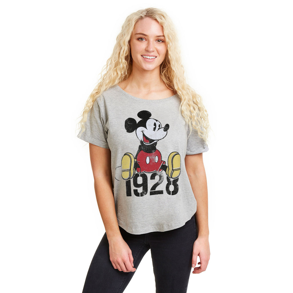Disney Ladies - Mickey Year - T-shirt - Sport Grey