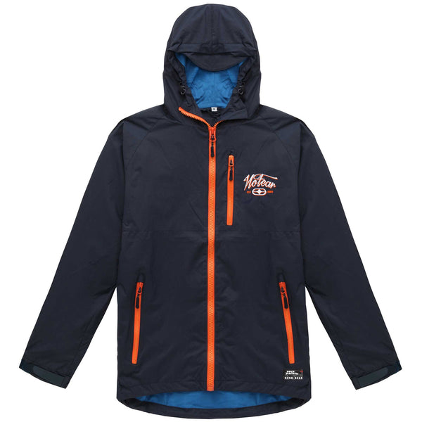 No Fear Mens Script Shell Jacket - Navy/Orange