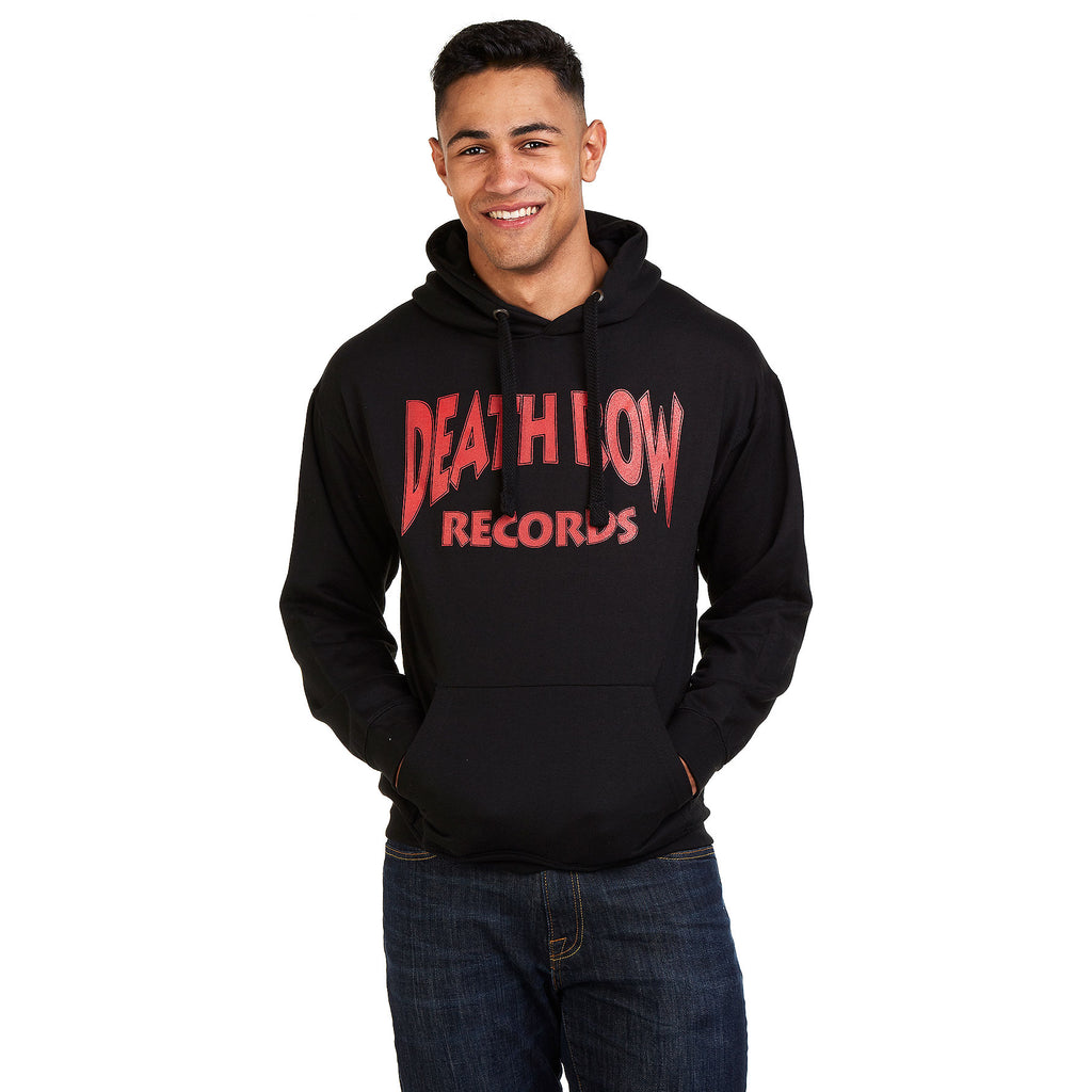 Death Row Records Mens - Arch Text - Pullover Hood - Black - CLEARANCE