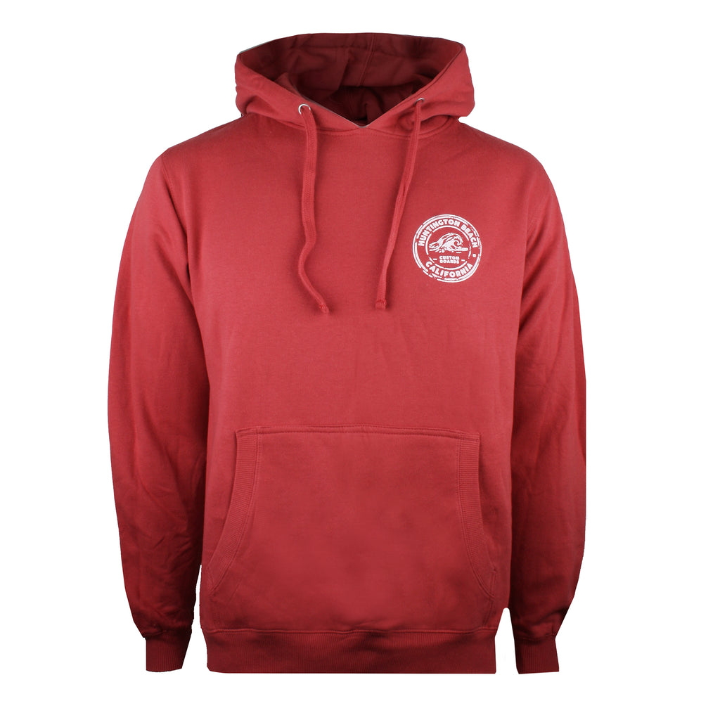 Pure Juice Mens - Huntington Stamp - Pullover Hood - Red