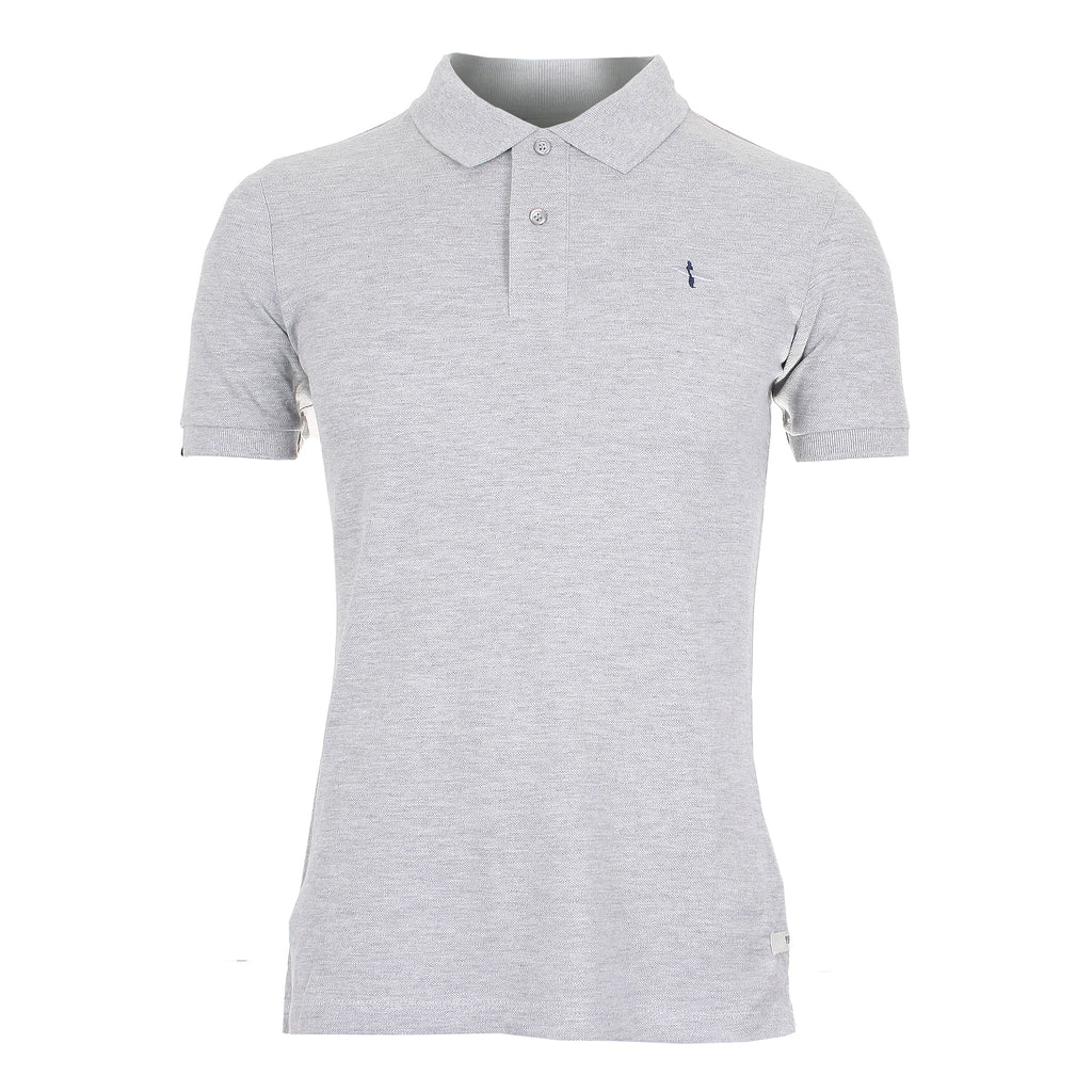 Pure Juice Mens - Surfer - Polo Shirt - Grey Marl - CLEARANCE