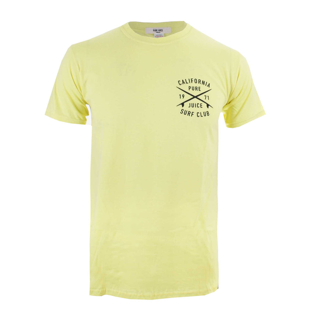 Pure Juice Mens Surf Club T-Shirt - Cornsilk