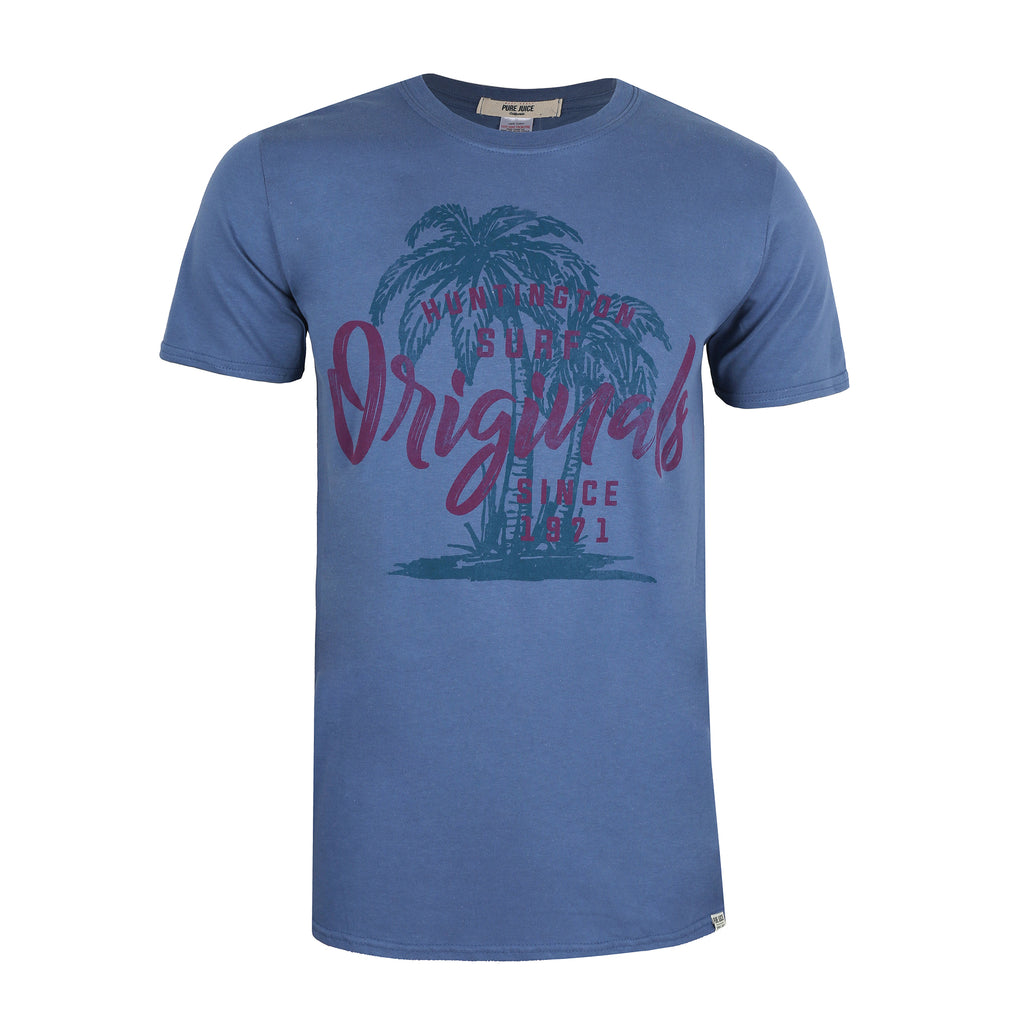 Pure Juice Mens - Huntington Originals - T-Shirt - Indigo