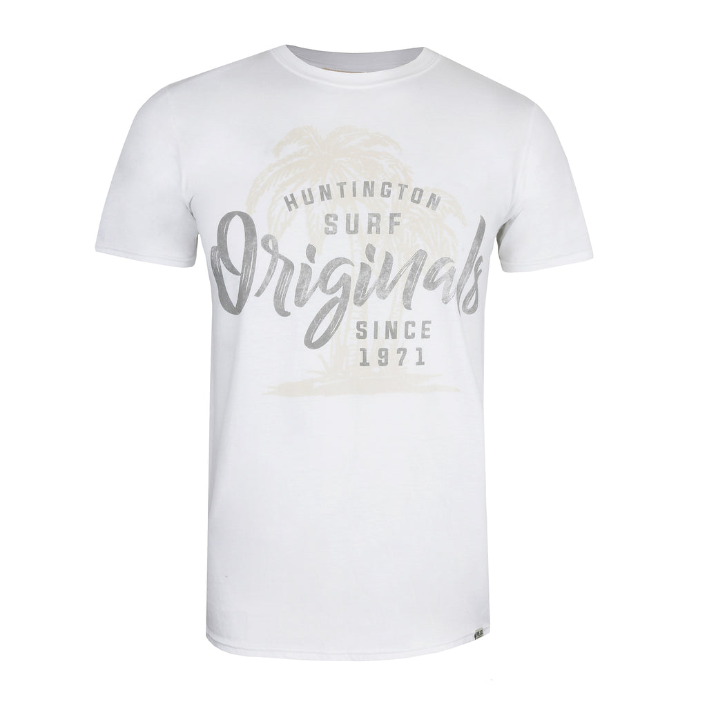 Pure Juice Mens - Huntington Originals - T-Shirt - White