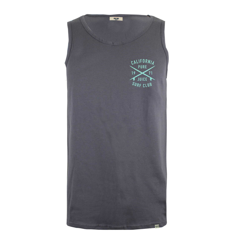 Pure Juice Mens Surf Club Vest - Charcoal