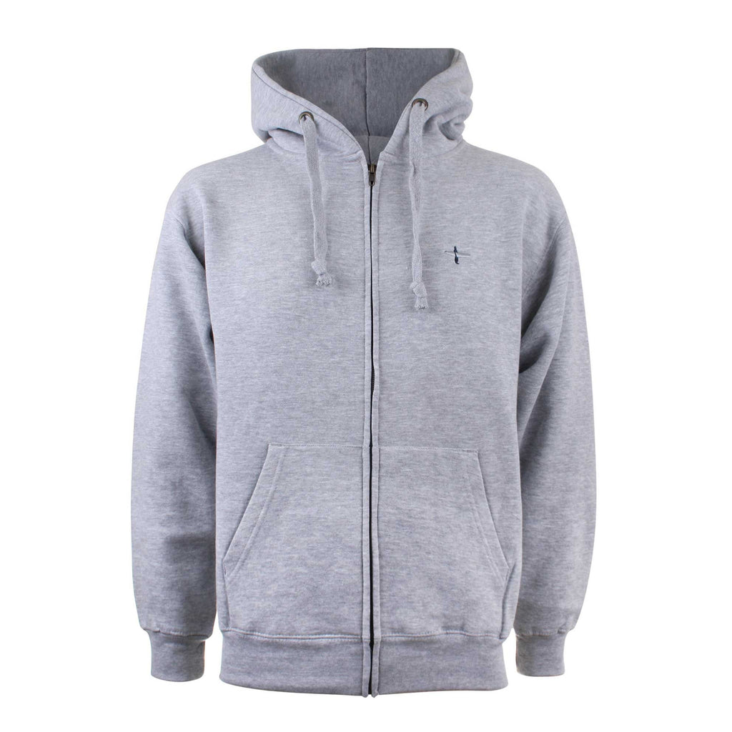 Pure Juice Mens Surfer Zip Hoodie - Grey Marl