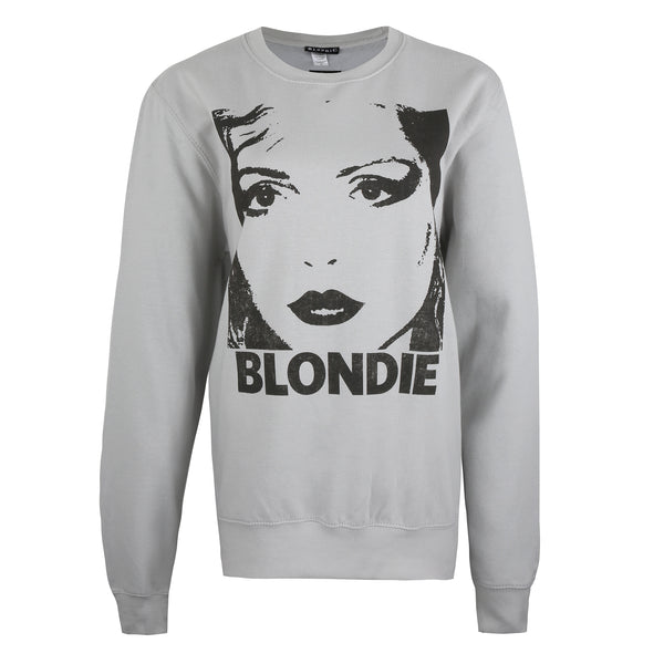 Blondie Ladies - Silhouette - Crew Sweat - Moon Dust Grey