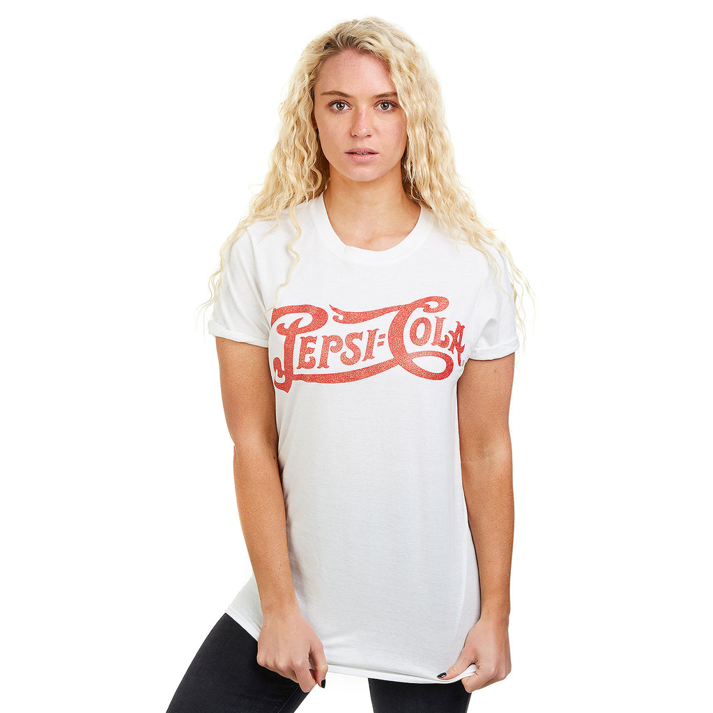 Pepsi Ladies - Vintage Logo - T-Shirt - White