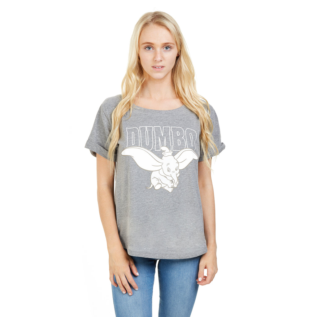 Disney Ladies - Dumbo Flying - T-Shirt - Graphite
