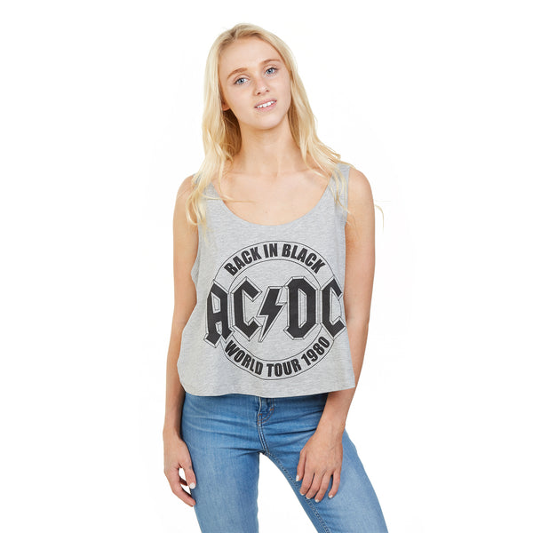 AC/DC Ladies - Tour Emblem - Vest - Grey Heather
