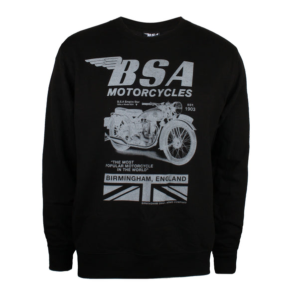 BSA Mens - Tonal Invert - Crew Sweat - Black