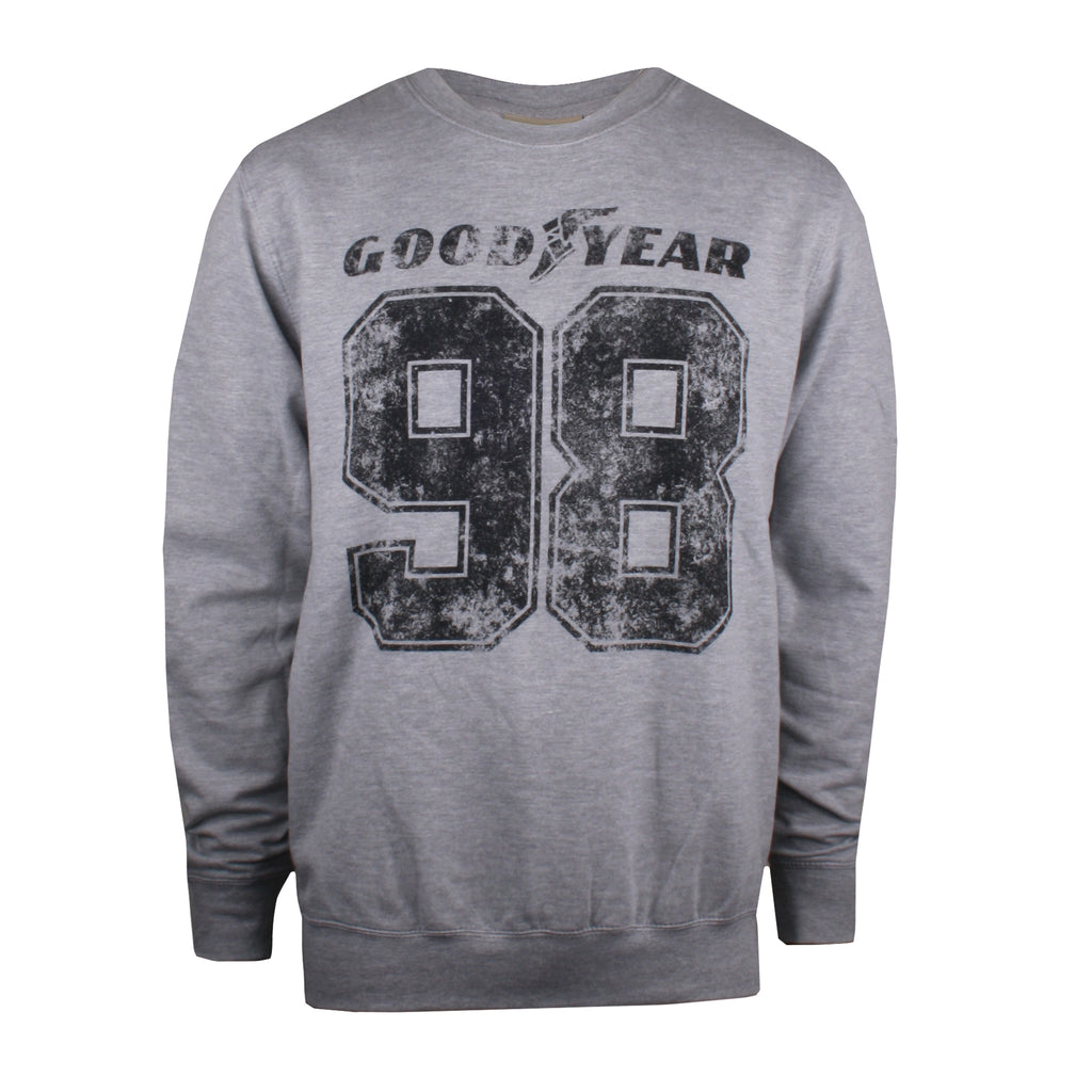 Goodyear Mens - 98 - Crew Sweat - Grey Marl