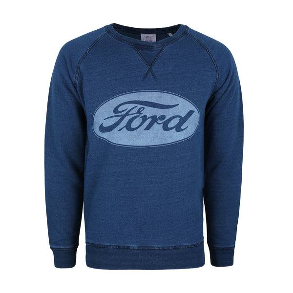 Ford Mens - Logo - Crew Sweat - Denim