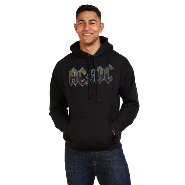 AC/DC Mens - About To Rock Tour - Pullover Hood - Black
