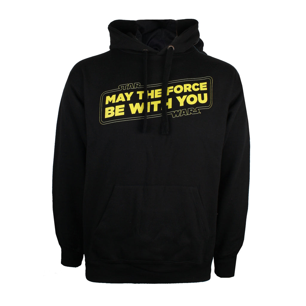 Star Wars Mens - Force Slogan - Pullover Hood - Black