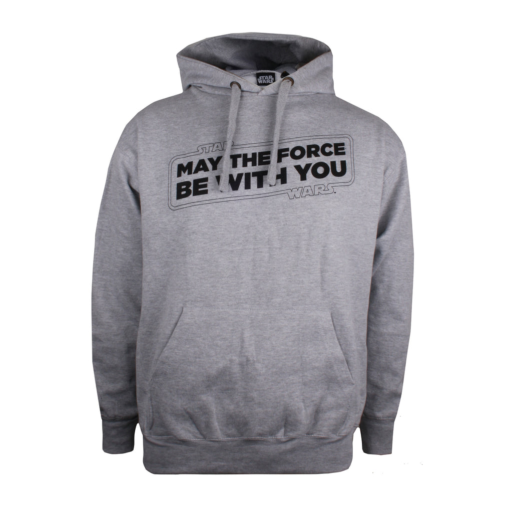 Star Wars Mens - Force Slogan - Pullover Hood - Grey