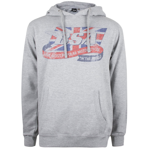 BSA Mens - Flag Logo - Pullover Hood - Grey