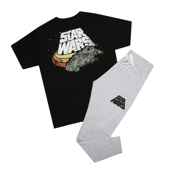 Star Wars Mens - Falcon Logo - Long Sleep Set - Multi