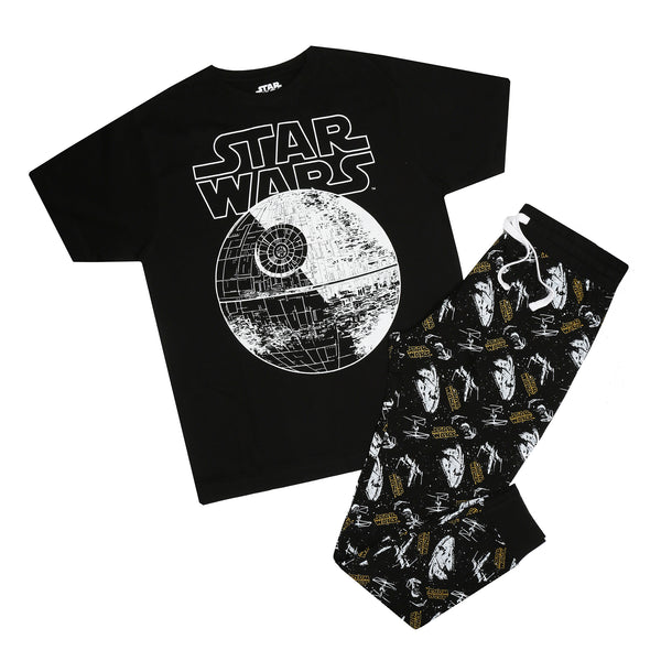 Star Wars Mens - Death Star Logo - Long Sleep Set - Multi