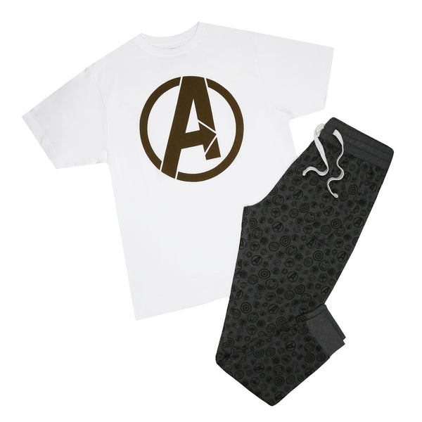 Marvel Mens - Avengers Icon - Long Sleep Set - Multi