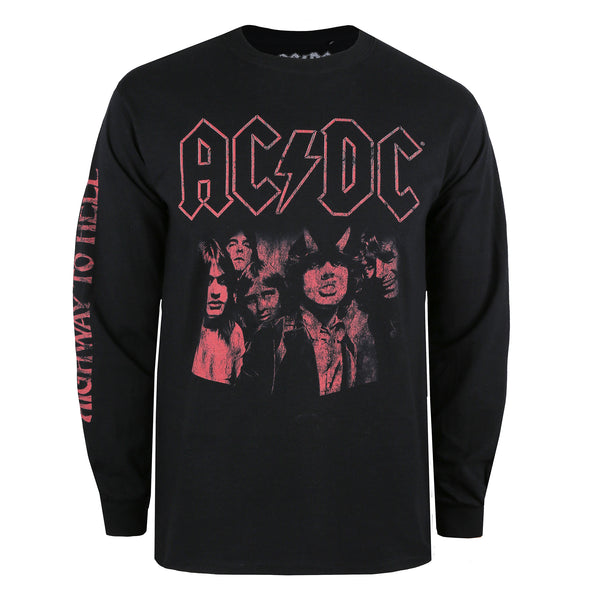AC/DC Mens - Highway To Hell - Long Sleeve T-Shirt - Black