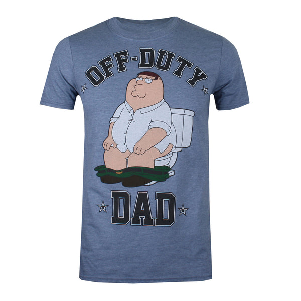 Family Guy Mens - Off Duty - T-Shirt - Heather Indigo