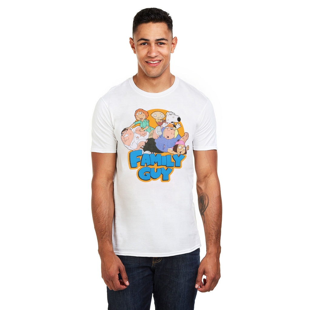 Family Guy Mens - The Griffins - T-Shirt - White
