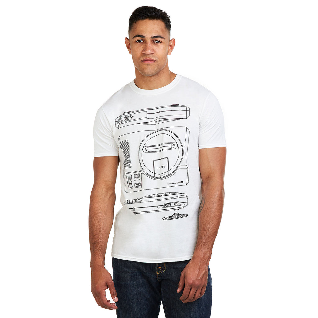 Sega Mens - Mega Drive Spec - T-Shirt - White