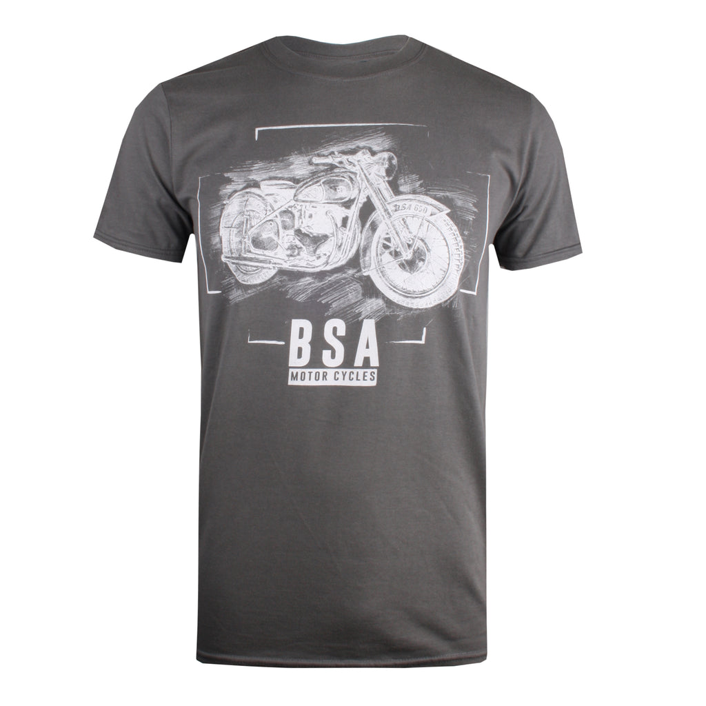 BSA Mens - Chalk - T-Shirt - Charcoal