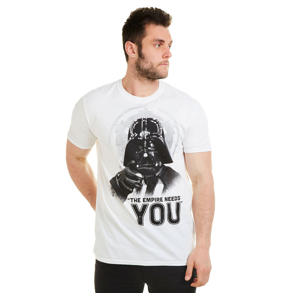 Star Wars Mens - Enlist Today - T-Shirt - White